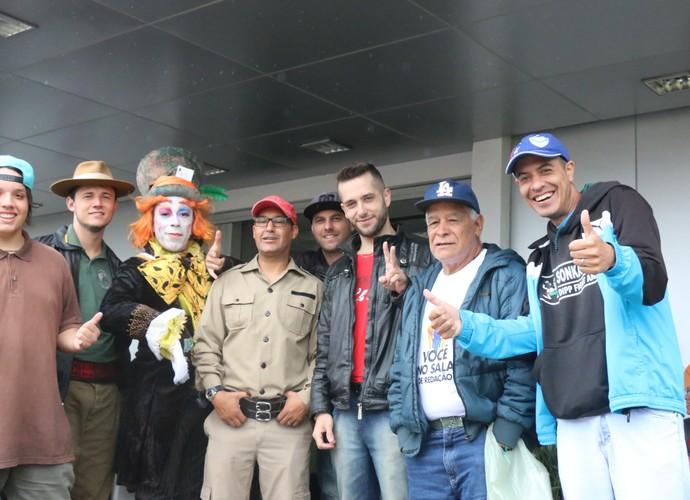 Seletiva 'Tem Gente Atrás' do Domingão do Faustão em Porto Alegre  (Foto: Lisiane Lisboa / RBS TV )