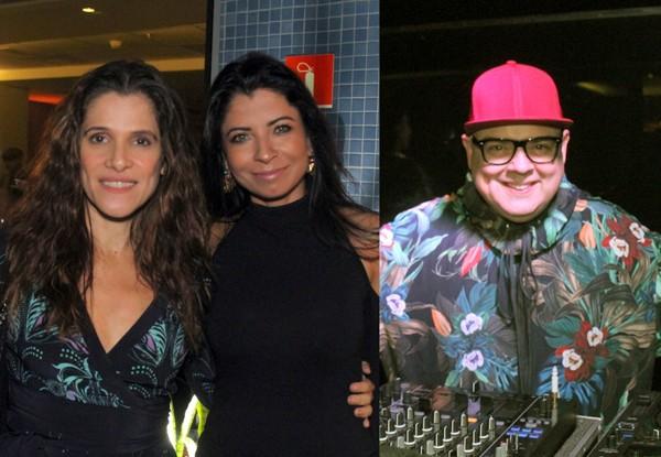 Ingrid Guimarães posa com Ana Lima. O DJ Zé Pedro foi especialmente de São Paulo para o Rio, comandar o som da festa (Foto: Dan Delmiro)