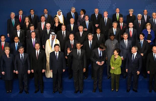Líderes de mais de 50 países participam da III Cúpula sobre Segurança Nuclear, em Haia, na Holanda. O evento foi ofuscado pela cúpula do G7, que decidiu suspender a Rússia (Foto: AP Photo/Doug Mills, Pool)
