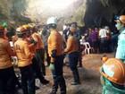 Socorristas tentam antecipar retirada de meninos de caverna na Tailândia