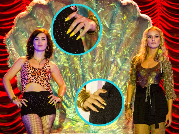 Dançarinas da La Conga capricham no esmalte (Foto: TV Globo/Cynthia Salles)