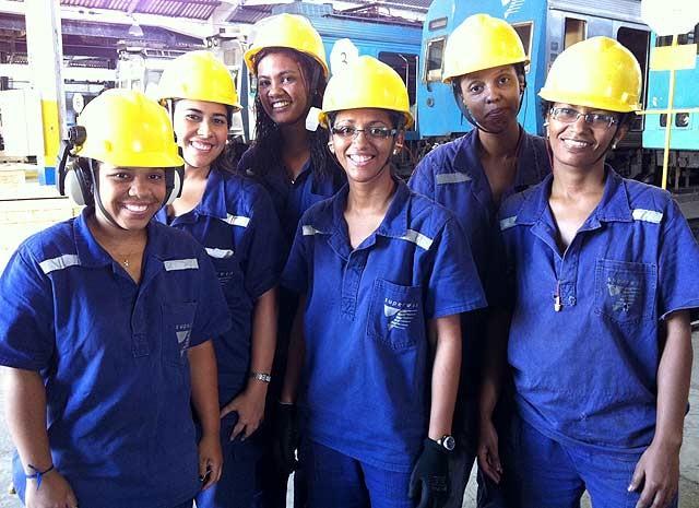 No Dia da Mulher, o G1 reuniu mulheres que trabalham em funções tipicamente masculinas. (Foto: Guilherme Brito / G1)
