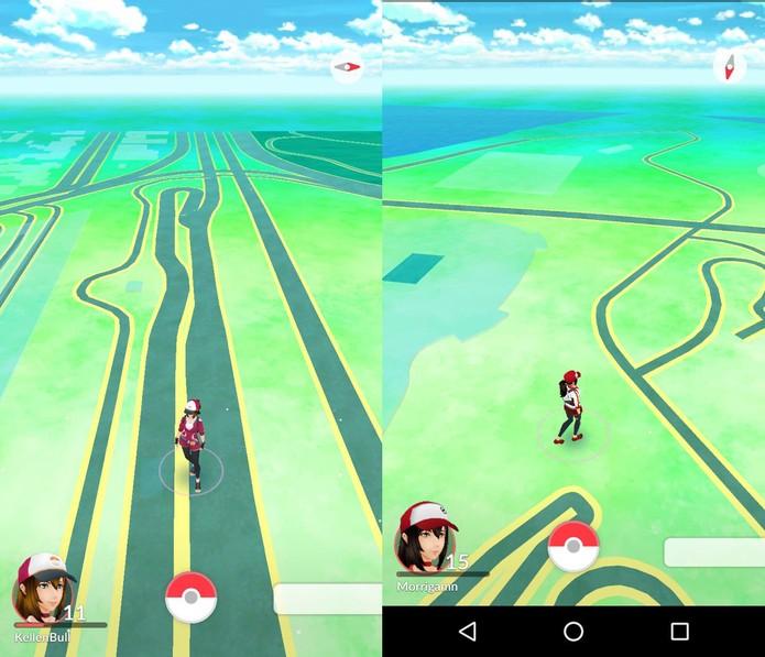 Bug com mapa vazio no Pokémon GO? Saiba resolver  (Foto: Reprodução/ Anna Kellen Bull e Viviane Werneck)
