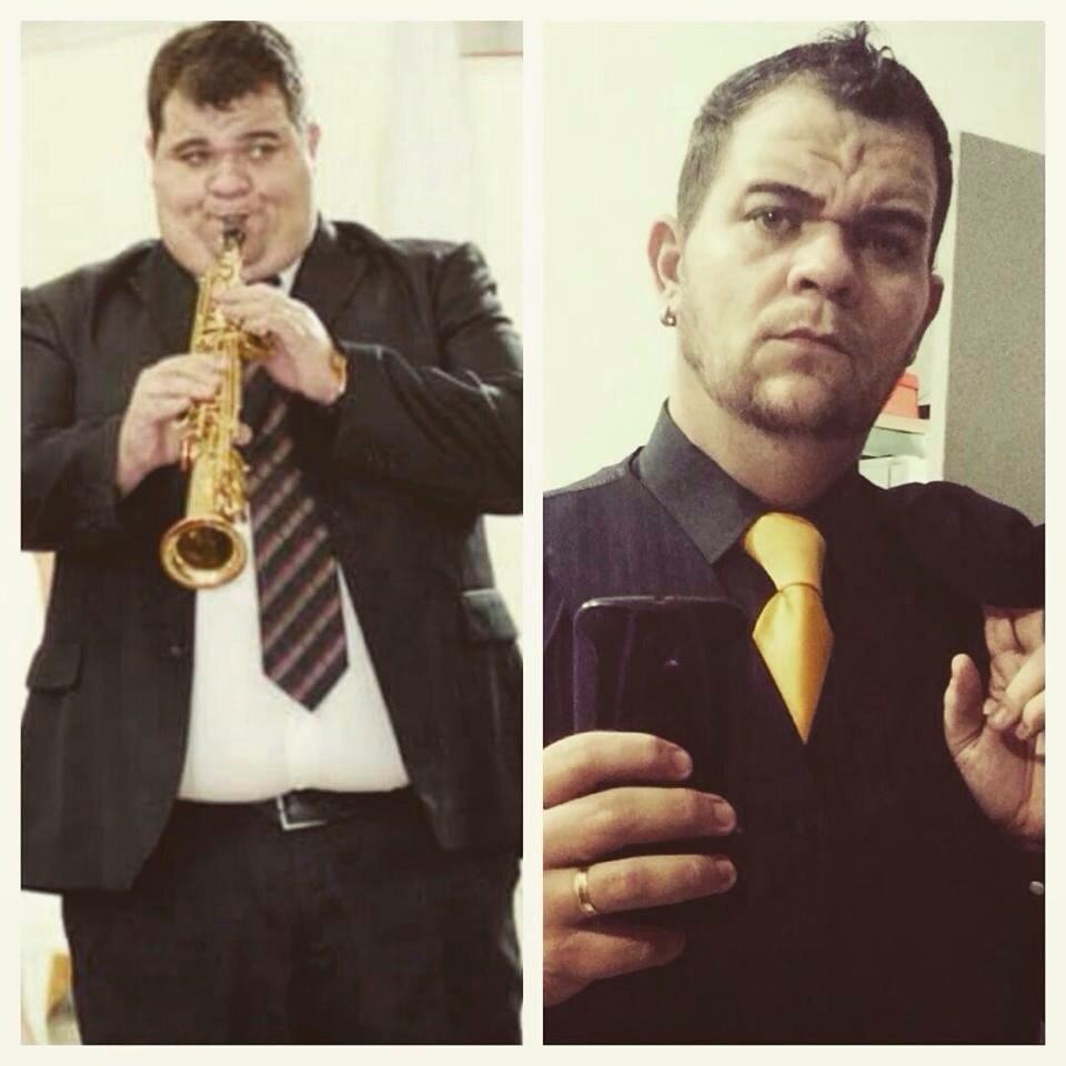 PH Dias, no antes e depois (Foto: Arquivo Pessoal)