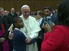 Papa pede que vítimas do terrorismo respondam com perdão e amor