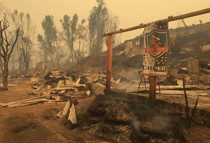 Colo-Colo, incêndios (Foto: Diego Alvujar / Colo-Colo)