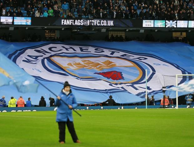 Bandeira novo escudo Manchester City