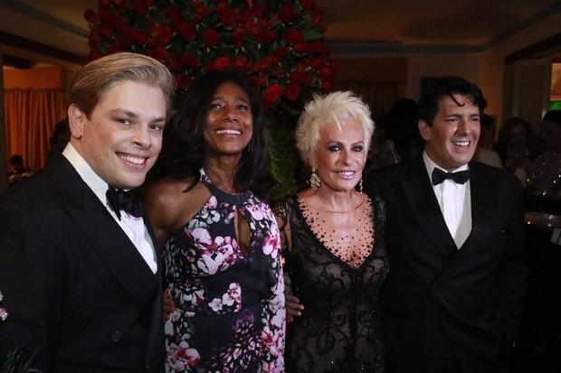 Bruno Chateaubriand, Glória Maria, Ana Maria Braga e André Ramos (Foto: Fred Pontes/Divulgação)