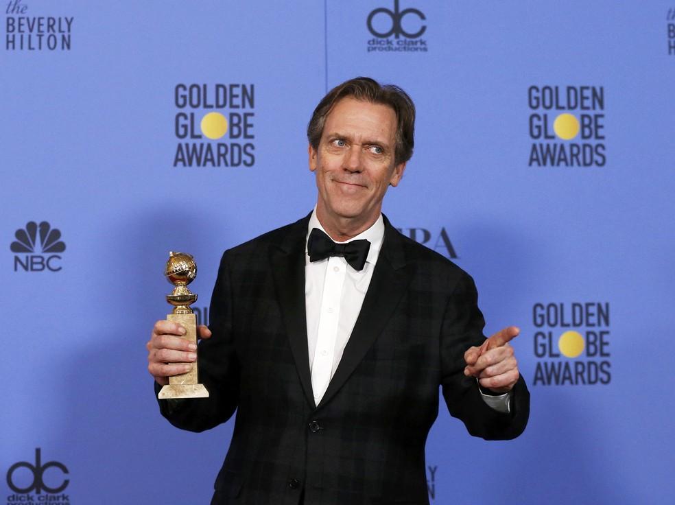 Hugh Laurie ganhou como melhor ator coadjuvante em TV por 'The night manager' (Foto: Mario Anzuoni/Reuters)