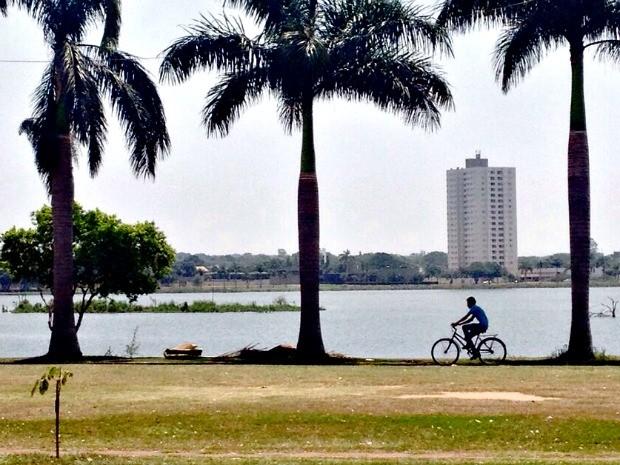 Três Lagoas registrou a maior temperatura do país, 41,9°C (Foto: Fabiano Fresneda/ TV Morena)