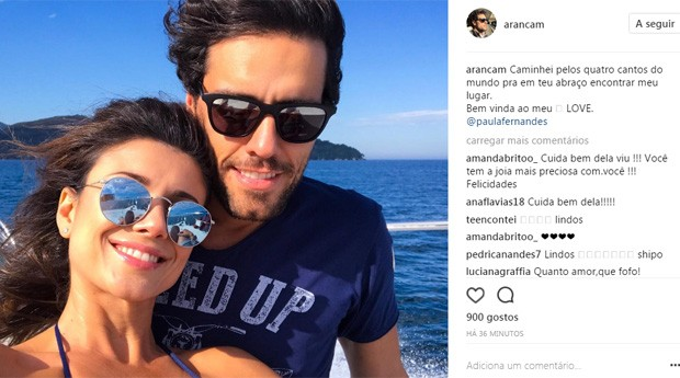Thiago Arancam, novo namorado de Paula Fernandes, se declara na web (Foto: Reprodução/Instagram)