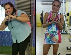 Diana Rodrigues aderiu a musculação para adquirir massa magra (Foto: Diana Rodrigues/ Arquivo pessoal)