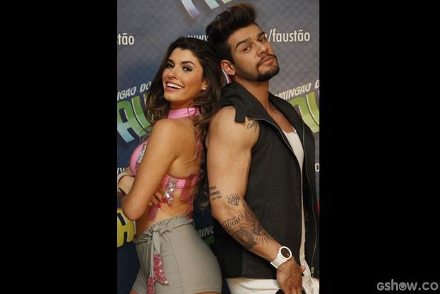 Lucas Lucco e Ana Paula Guedes  (Foto: Raphael Dias/ TV Globo)