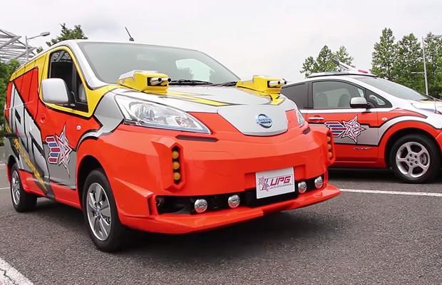 Nissan e-NV200 e LEAF (Foto: Divulgação)