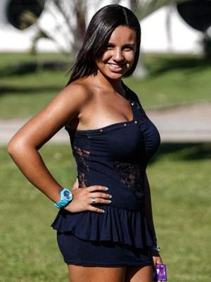 Erika no rolezinho de sábado (18) no Parque Ibirapuera (Foto: Vagner Campos/G1)