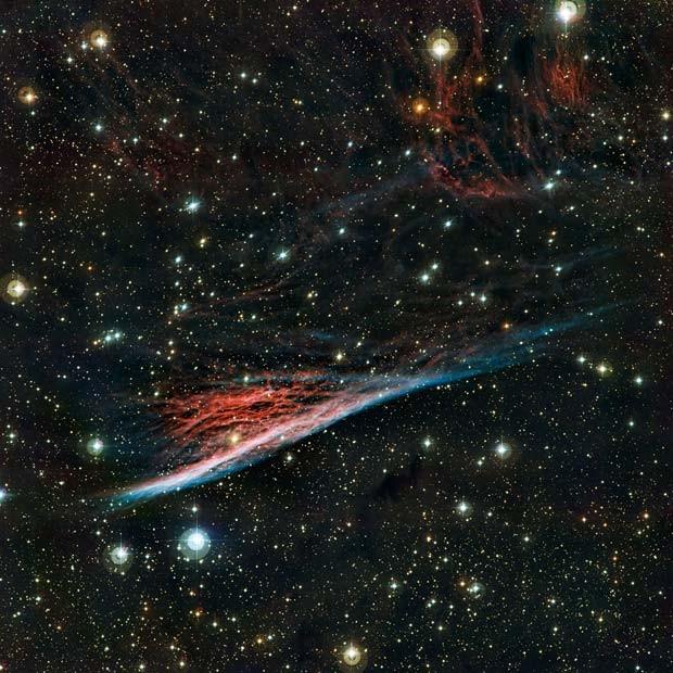 Telescópio do ESO captou nebulosa que lembra 'vassoura de bruxa' (Foto: ESO)
