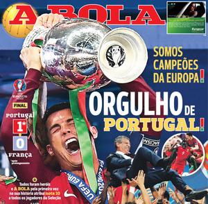 Capas de jornais portugueses exaltam orgulho por título