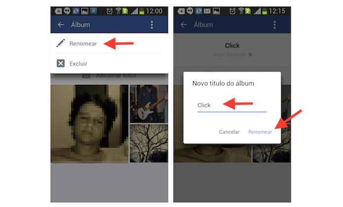 Renomeando ou excluindo um álbum do Facebook pelo celular (Foto: Reprodução/Marvin Costa)