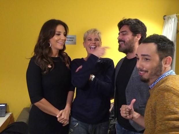 Ivete Sangalo, Xuxa, Junno Andrade (Foto: Facebook / Reprodução)