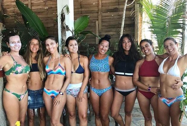 Daniele Suzuki e as amigas (Foto: Reprodução Instagram)