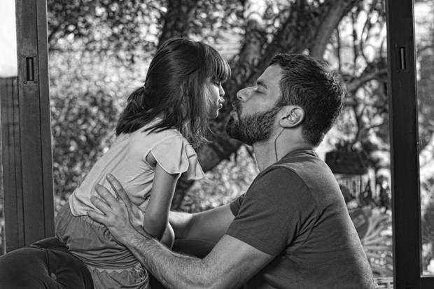 Facundo e Pina na campanha de Dia dos Pais da Vila Romana (Foto: Divulgação)