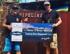 Jamie O'Brien surfa melhor onda da temporada havaiana em Pipeline Havaí surfe (Foto: Reprodução/Instagram)