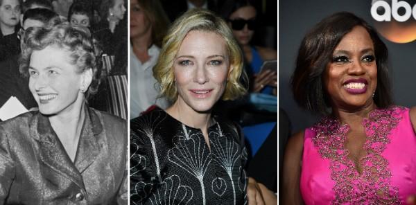 Ingrid Bergman, Cate Blanchett e Viola Davis (Foto: Getty Images)