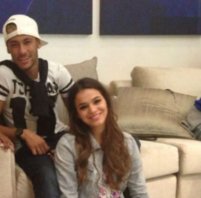 Neymar e Bruna Marquezine na casa de Thiago Silva (Foto: Reprodução/Instagram)