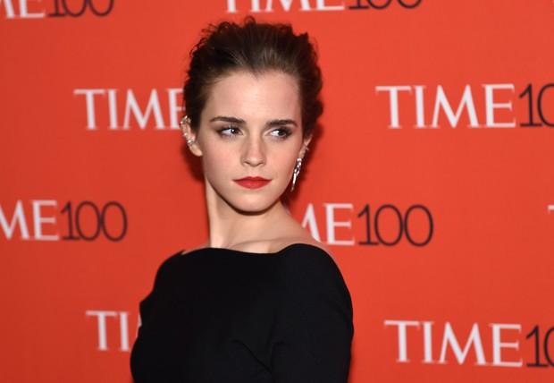 """Emma Watson em festa da revista """"TIME"""" em Nova York, nos Estados Unidos (Foto: Timothy A. Clary/ AFP)"""