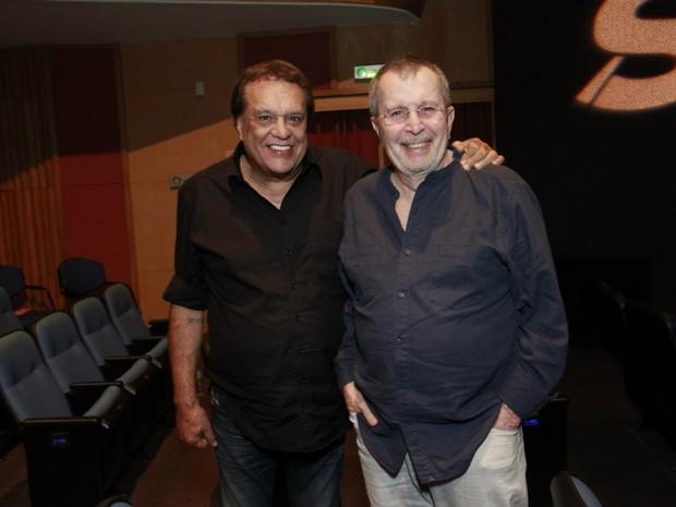 Dennis Carvalho e Daniel Filho em estreia de peça no Centro do Rio (Foto: Marcos Ferreira/ Brazil News)