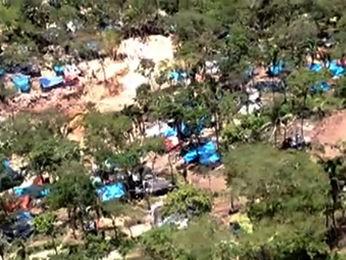 Garimpo ilegal em Pontes e Lacerda deve ser monitorado pelo Exército e Força Nacional (Foto: Reprodução/TVCA)