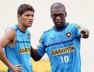 Seedorf e Jadson no treino do Botafogo (Foto: Alexandre Cassiano / Ag. O Globo)