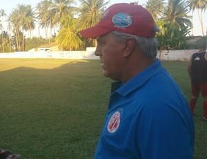 América-RN - Aluísio Moraes - treino em Coruripe (Foto: Canindé Pereira/Divulgação)