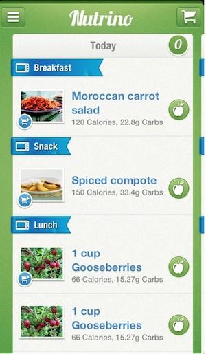 Aplicativo Nutrino permite personalizar a dieta alimentar (Foto: Reprodução/Nutrino)