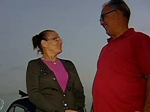 Casal que mora no interior de Minas Gerais garante que família toda foi abduzida (Foto: Mais Você / TV Globo)