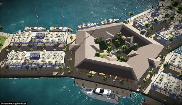 cidade flutuante estará pronta em 2019 (Foto: © Seasteading Institute)