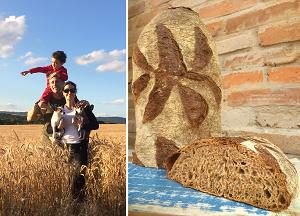 Oscar Luzardo e família + pão (Foto: Arquivo pessoal)