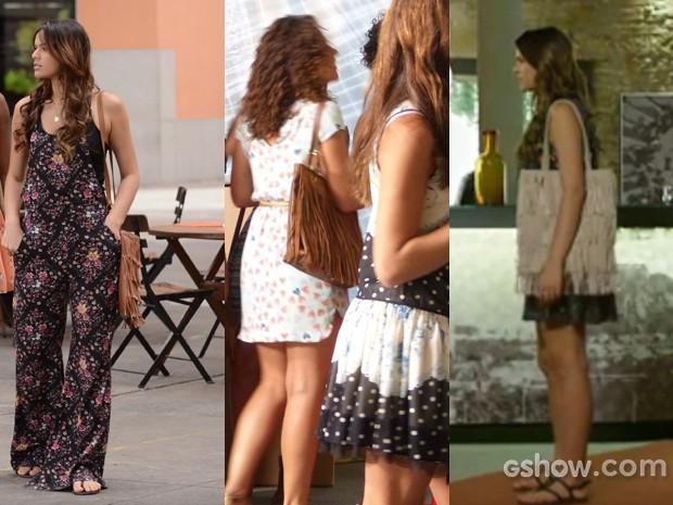 Sandra e Luiza ama as bolsas franjadas (Foto: Em Família/TVGlobo)