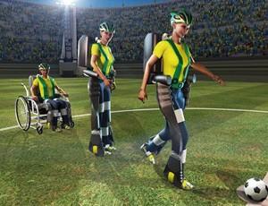 Projeto paraplégico Copa do mundo (Foto: Divulgação  )