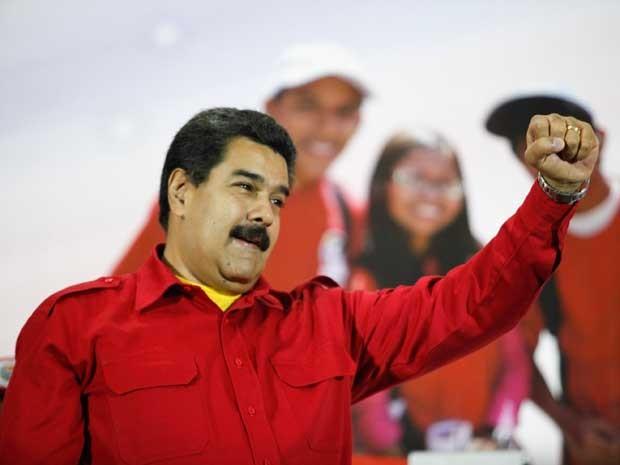 O presidente da Venezuela, Nicolás Maduro, durante encontro com simpatizantes de seu governo. (Foto: Palácio Miraflores / via Reuters)