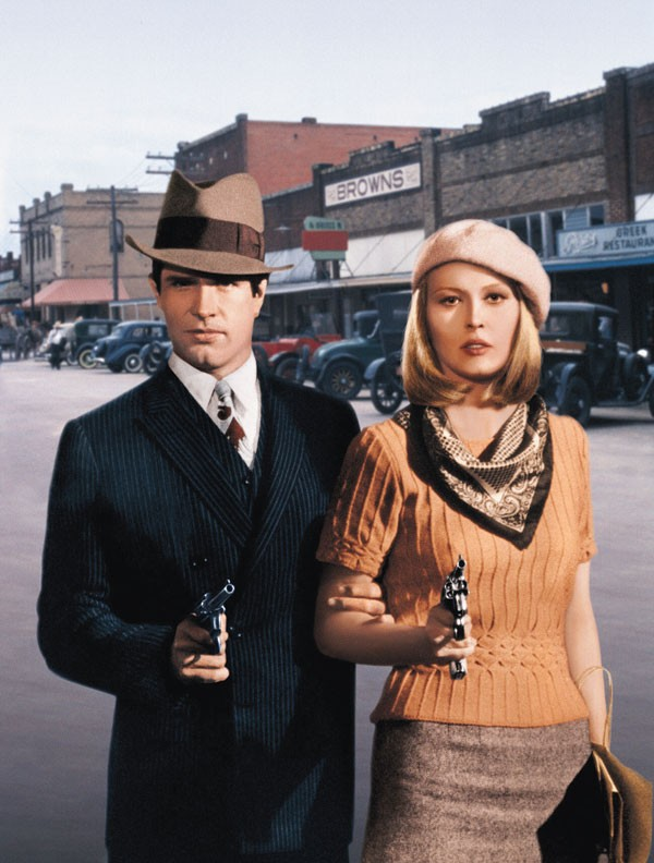 Warren Beatty e Faye Dunaway em 'Bonnie e Clyde - Uma Rajada de Balas' (1967) (Foto: Getty Images)