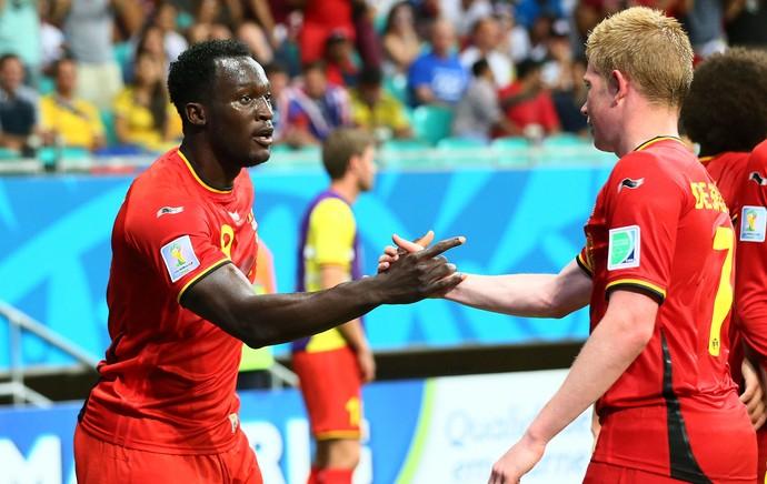 Lukaku gol jogo Estados Unidos x Bélgica Arena Fonte Nova (Foto: Getty Images)