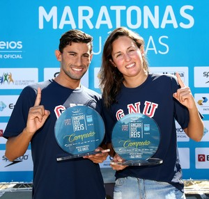 Luiz Gustavo de Barros e Betina Lorscheitter Campeonato Brasileiro de maratona aquática (Foto: Satiro Sodré / SSPress)