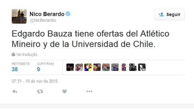 Edgardo Bauza estaria nos planos do Atlético-MG (Foto: Reprodução/Twitter)
