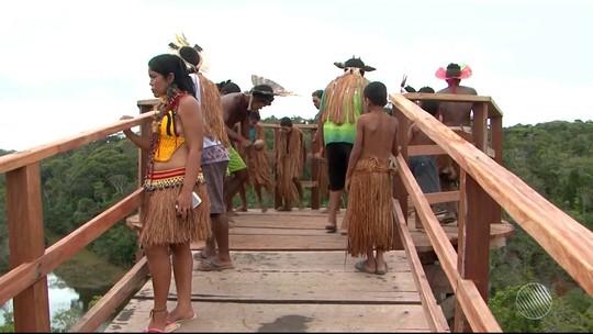 Índios pataxós ocupam Parque do Descobrimento, na região sul da BA