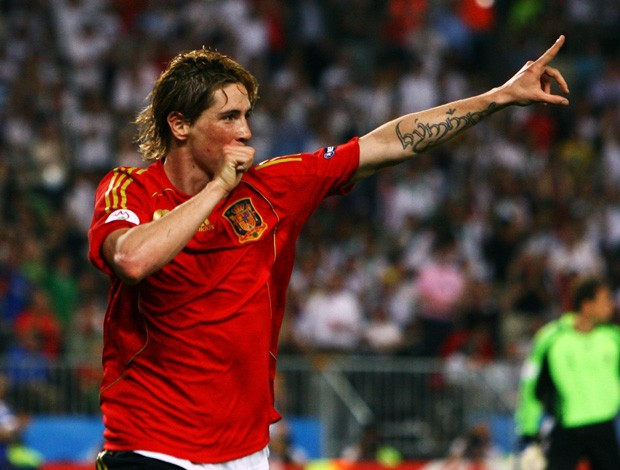 fernando torres espanha final eurocopa 2008 (Foto: Getty Images)
