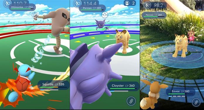 Cenas de batalhas de Pokémon Go (Foto: Reprodução/Serebii) (Foto: Cenas de batalhas de Pokémon Go (Foto: Reprodução/Serebii))