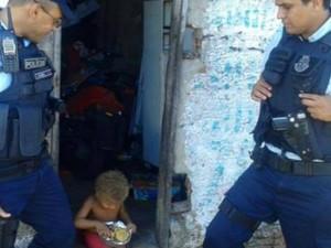 Imagem foi compartilhada centenas de vezes no Facebook (Foto: Polícia Militar/Divulgação)