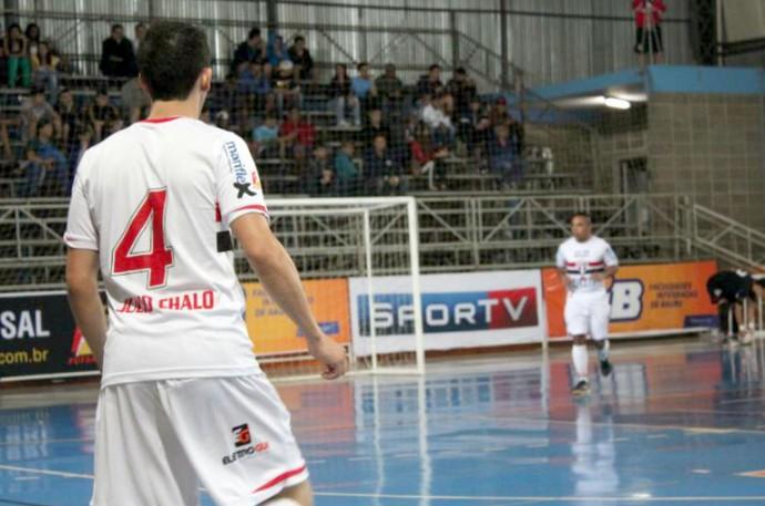 São Paulo/Bauru, futsal, fixo Júlio Chaló (Foto: Gabriel de Castro / FIB-SPFC)