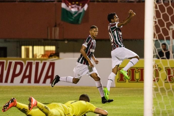 Henrique Dourado; Fluminense x Criciúma (Foto: Estadão Conteúdo)